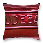 1947 Studebaker Tail Gate Cherry Red Throw Pillow