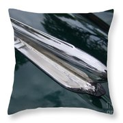 1948 Chevy Coupe Hood Ornament Throw Pillow