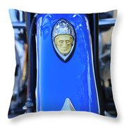1948 Indian Chief Motorcycle Fender Throw Pillow