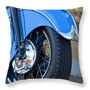 1948 Indian Chief Motorcycle Wheel Throw Pillow