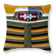1948 International Hood Emblem 2 Throw Pillow