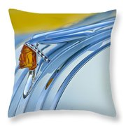 1948 Pontiac Hood Ornament 2 Throw Pillow
