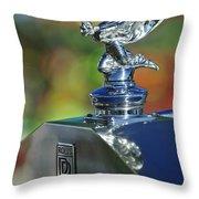 1948 Rolls-royce Hood Ornament Throw Pillow
