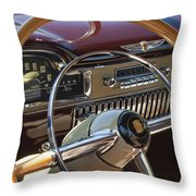 1949 Cadillac Sedanette Steering Wheel Throw Pillow