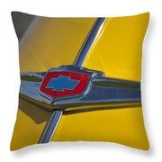 1949 Chevrolet Sedan Hood Emblem Throw Pillow