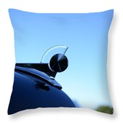 1949 Ford Hood Ornament Throw Pillow