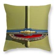 1950 Chevrolet Fleetline Emblem Throw Pillow