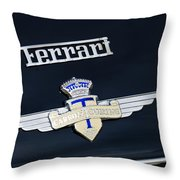 1950 Ferrari Carrozz Touring Milano Emblem Throw Pillow