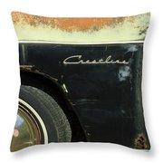 1950 Ford Crestliner Wheel Emblem Throw Pillow
