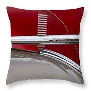 1950 Kaiser Hood Ornament Throw Pillow