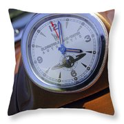 1950 Oldsmobile 88 Dashboard Clock Throw Pillow