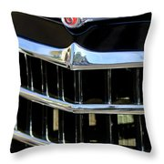 1950 Willys Jeepster Grille Emblem Throw Pillow