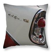 1950s Chevrolet Belair Chevy Antique Vintage Car 2 Throw Pillow