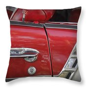 1950s Chevrolet Belair Chevy Antique Vintage Car 3 Throw Pillow
