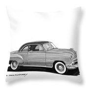 1951 Chevrolet Coupe Throw Pillow