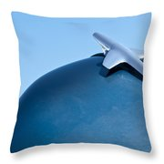 1951 Chevrolet Deluxe Hood Ornament 2 Throw Pillow