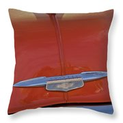 1951 Chevrolet Sedan Delivery Hood Ornament Throw Pillow