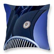 1951 Jaguar Proteus C-type Grille Emblem 4 Throw Pillow by Jill Reger