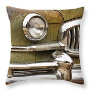 1951 Nash Ambassador Front End Closeup Throw Pillow