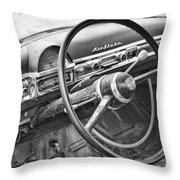 1951 Nash Ambassador Interior Bw Throw Pillow