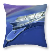 1951 Plymouth Hood Ornament Throw Pillow