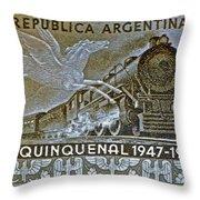 1951 Republica Argentina Stamp Throw Pillow