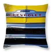 1952 Chevrolet Grille Emblem Throw Pillow