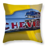 1952 Chevrolet Hood Emblem Throw Pillow