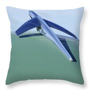 1952 Ford Wagon Hood Ornament Throw Pillow