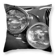 1952 Jaguar Headlights Throw Pillow