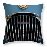 1952 Jaguar Hood Ornament And Grille Throw Pillow