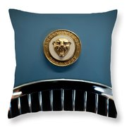1952 Jaguar Hood Ornament Throw Pillow by Sebastian Musial