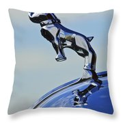 1952 L Model Mack Pumper Fire Engine Hood Ornament Throw Pillow