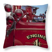 1952 L Model Mack Pumper Fire Truck 2 Throw Pillow