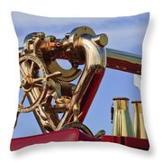 1952 L Model Mack Pumper Fire Truck Throw Pillow