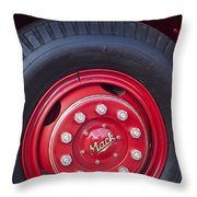 1952 L Model Mack Pumper Fire Truck Wheel 2 Throw Pillow