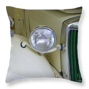 1952 Mg Roadster Headlamp Throw Pillow