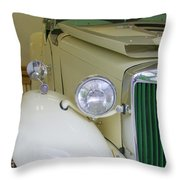 1952 Mg Roadster  Side View Throw Pillow