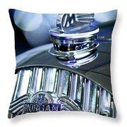 1952 Morgan Plus 4 Hood Ornament And Emblem Throw Pillow