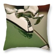 1952 Sterling Gladwin Maverick Sportster Hood Ornament Throw Pillow
