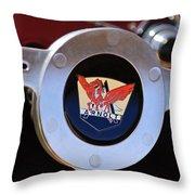 1953 Arnolt Mg Steering Wheel Emblem Throw Pillow