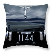 1953 Bentley Rear View License Plate Throw Pillow