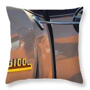1953 Chevrolet 3100 Pickup Emblem Throw Pillow