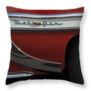 1953 Chevrolet Belair Emblem Throw Pillow