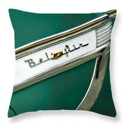1953 Chevrolet Belair Side Emblem Throw Pillow
