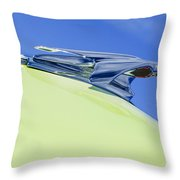 1953 Chevrolet Pickup Hood Ornament Throw Pillow