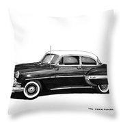 1953 Chevrolet Post 2 Dr Sedan Throw Pillow