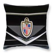 1953 Lincoln Capri Derham Coupe Emblem Throw Pillow