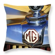 1953 Mg Td Hood Ornament Throw Pillow
