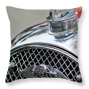 1953 Morgan Plus 4 Le Mans Tt Special Hood Ornament        Throw Pillow